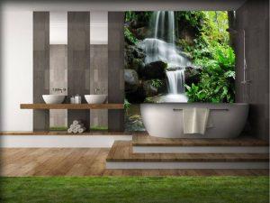 Fototapeta z wodospadem lub kaskadą